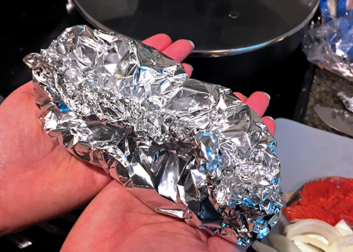 wrapped foil